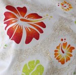 Textilschablone Hibiscus Blume