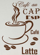 Wandschablone Kaffeetasse