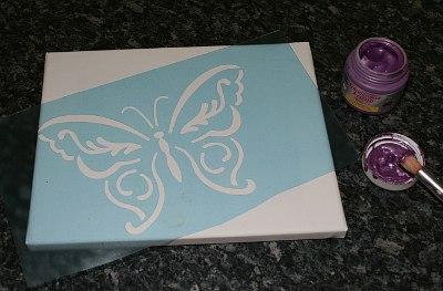 Schmetterling Schbalone auflegen
