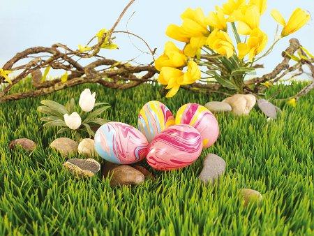 Zu Ostern: Die marmorierten Ostereier